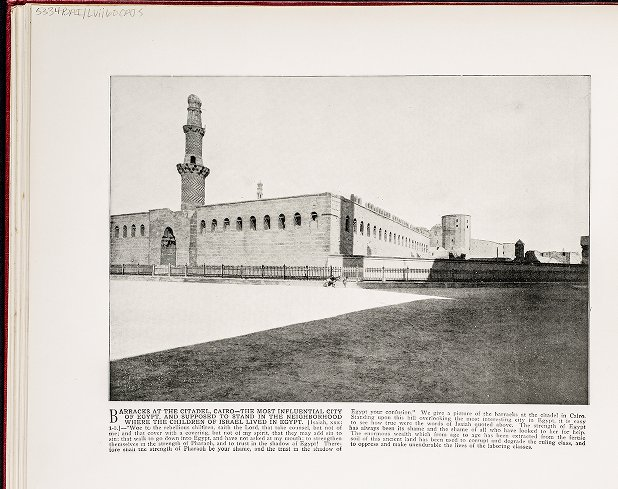 Barracks at the Citadel, Cairo--The most influential city of Egypt, and supposed to stand in the neighborhood where the children of Israel lived in Egypt