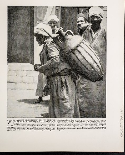 Water Carriers--Characteristic of Egypt from the Time of Moses to the Present