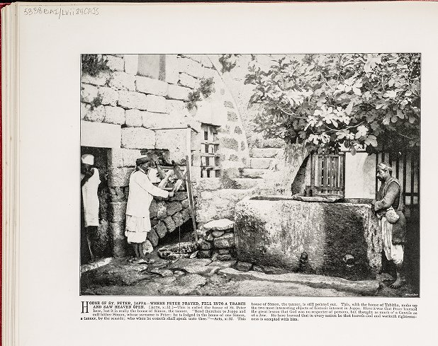 House of St. Peter, Jaffa--Where Peter prayed, fell into a trance and saw heaven open