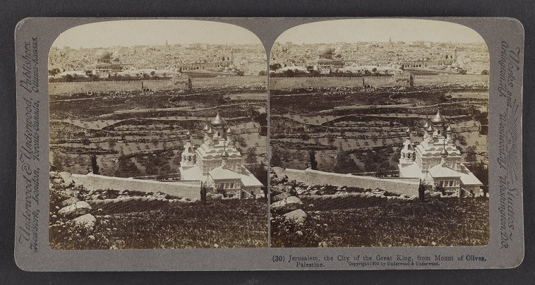 Jerusalem, the City of the Great King, from Mount of Olives, Palestine