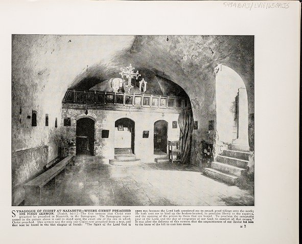 Synagogue of Christ at Nazareth--Where Christ preached his first sermon