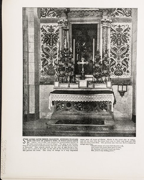 Side Altar, Latin Church, Nazareth--Supposed to stand over the site of Joseph's home, in which Jesus grew up