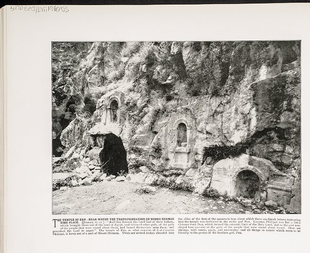 The Temple of Pan--Near where the transfiguration on Mount Hermon took place