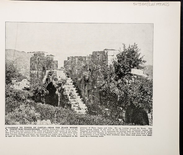 Stairway to Tower of Castle--Near the place where Christ was transfigured