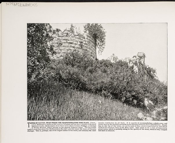 Tower of Castle--Near where the transfiguration took place