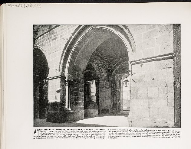 Arches, Harem esh-Sherif--On the ground once occupied by Solomon's Temple