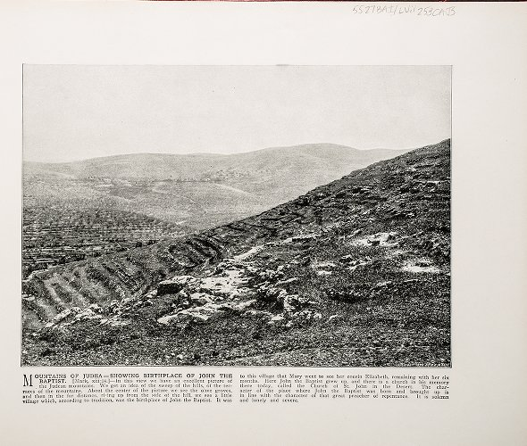 Mountains of Judea--Showing birthplace of John the Baptist