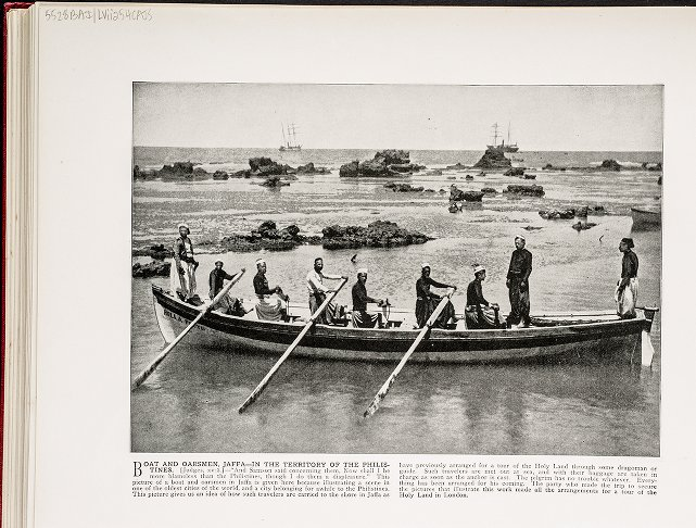 Boat and Oarsmen, Jaffa--In the territory of the Philistines