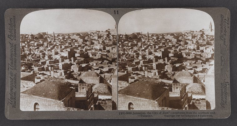 Jerusalem, the 'City of Zion'--southwest from the northern wall--Palestine