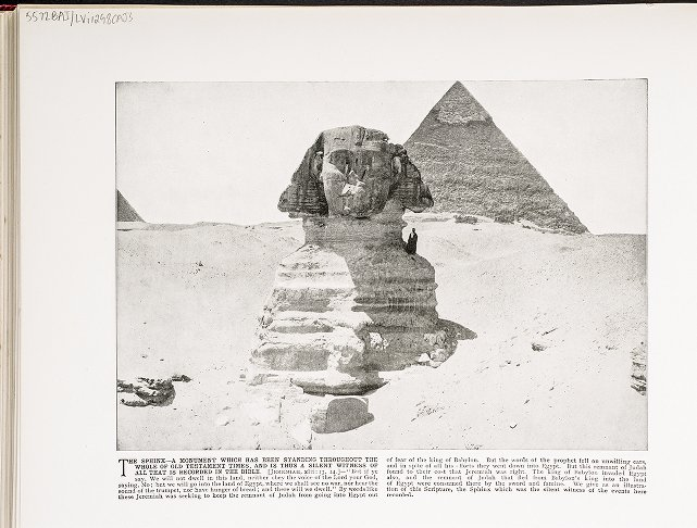 The Sphinx--A monument which has been standing throughout the whole of Old Testament times, and is thus a silent witness of all that is recorded in the Bible