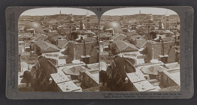 Jerusalem and the Mount of Olives--east from the Latin Hospice, Palestine