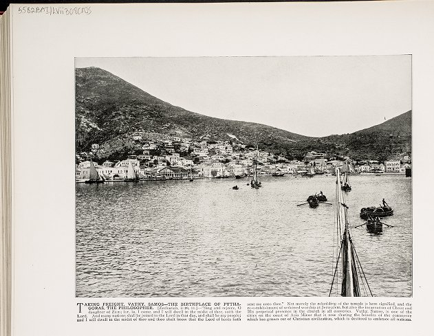 Taking freight, Vathy, Samos--The birthplace of Pythagoras, the philosopher