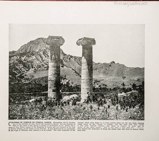 Columns in Temple of Cybele, Sardis