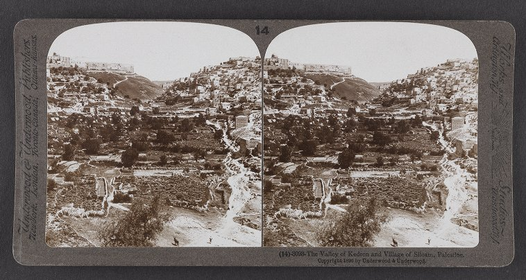 The Valley of Kedron and Village of Siloam, Palestine: