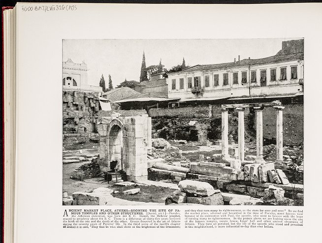Ancient Market Place, Athens--Showing the site of famous temples and other structures