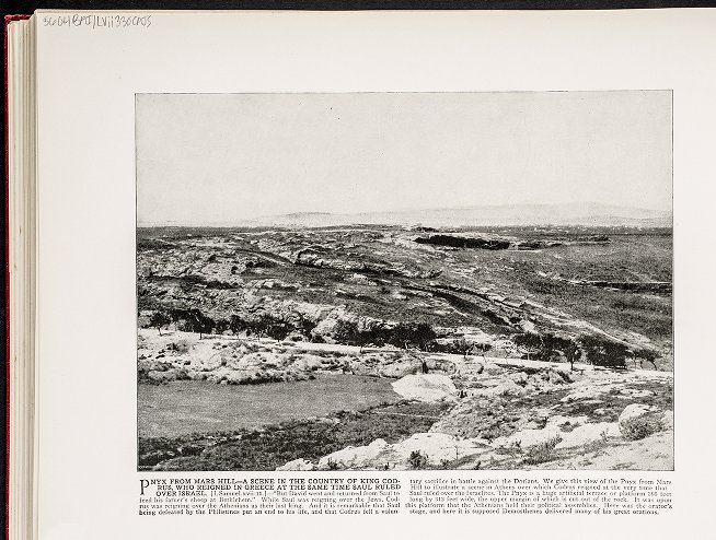 Pnyx, from Mars Hill--A scene in the country of King Codrus, who reignd in Greece at the same time Saul ruled over Israel