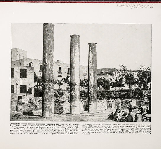 Columns of the Temple Serapeum, Puteoli--A temple built of marble taken from the country in which Moses grew up