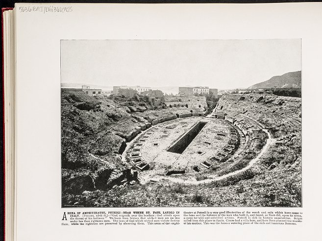 Arena of Amphitheatre, Puteoli--Near where St. Paul landed in Italy