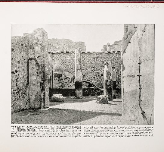 House of Romulus, Pompeii--Near the classic Elysian fields, where, according to heathen poets, the blessed resided