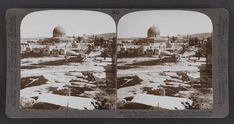 The 'Dome of the Rock,' where the Temple Altar stood, Mt. Moriah, Jerusalem, Palestine