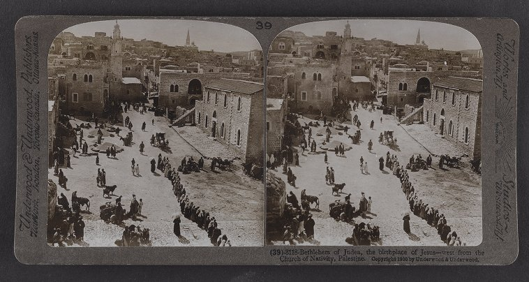 Bethlehem of Judea, the birthplace of Jesus--west from the Church of the Nativity, Palestine