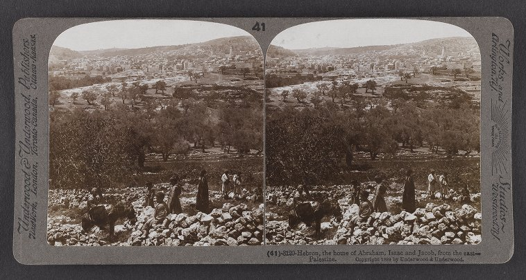 Hebron, the home of Abraham, Isaac and Jacob from the east--Palestine
