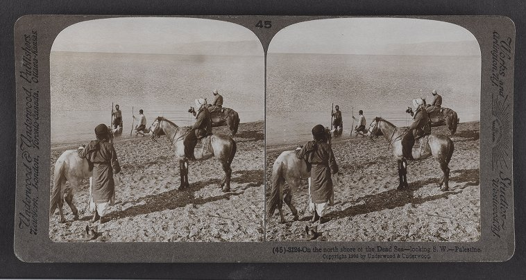 On the north shore of the Dead Sea--looking S.W.--Palestine