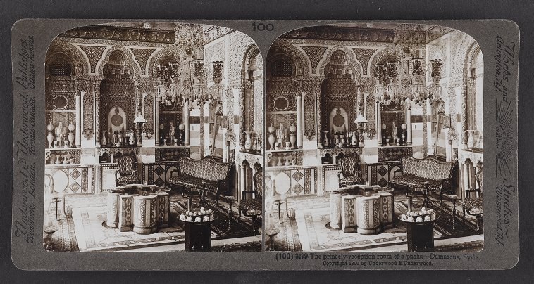 The princely reception room of a pasha--Damascus, Syria