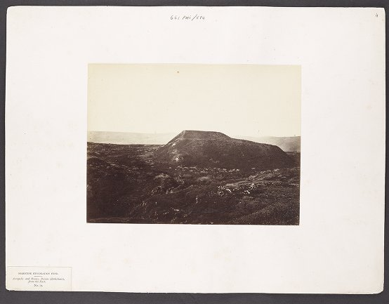 Acropolis and Ruins, Beisan (Bethshean), from the East