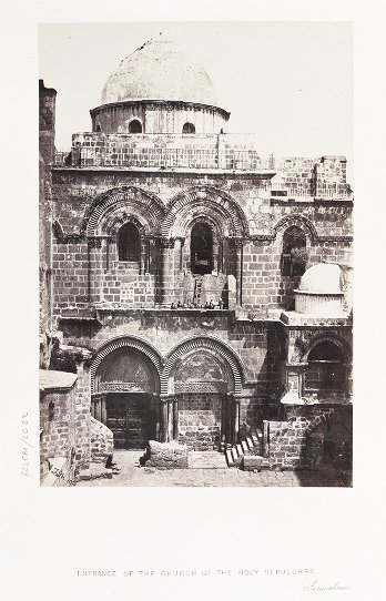 Entrance of the Church of the Holy Sepulchre, Jerusalem
