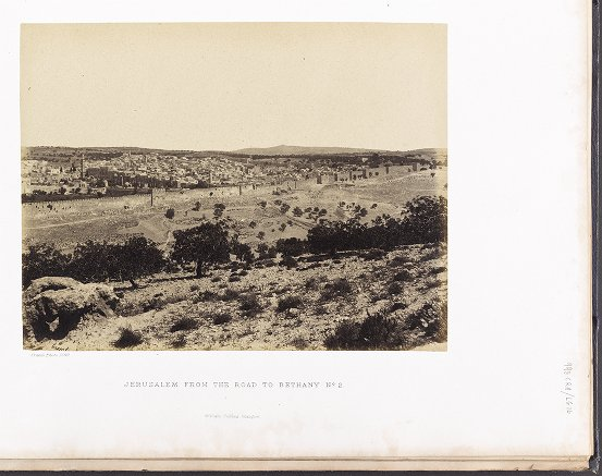 Jerusalem from the Road to Bethany No. 2