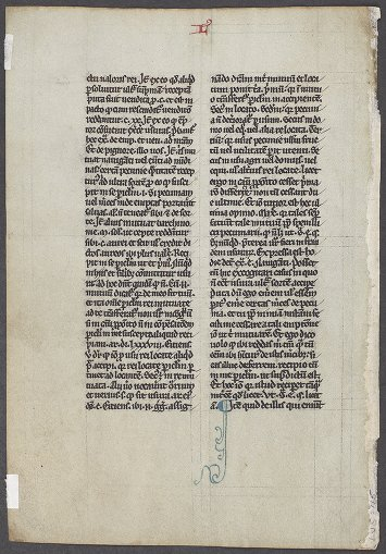 Lawrence J. Schoenberg Collection: LJS 115 - Raymond, of Peñafort, Saint, 1175?-1275 - Manuscript leaf from Summa de poenitentia et matrimonio