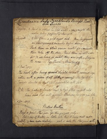 Other: Ms. Codex 644 - Frankland, Lady - [Recipe book]