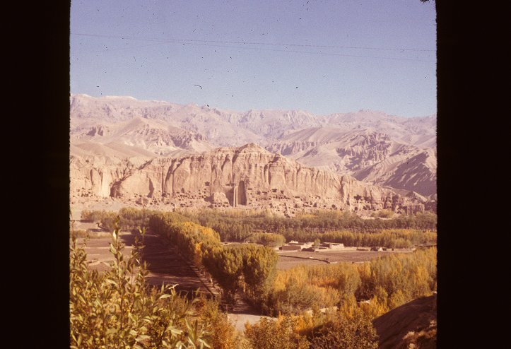 The Bamiyan Valley  of the Great Buddha in the Hindu Kush Mountains