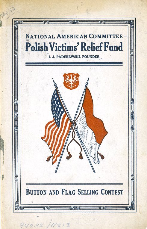 World War I Pamphlet Collection: Button and flag selling contest.