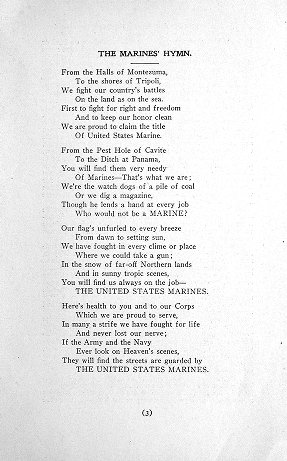 World War I Pamphlet Collection: The U. S. Marines in rhyme, prose, and cartoon. 3d ed., special.